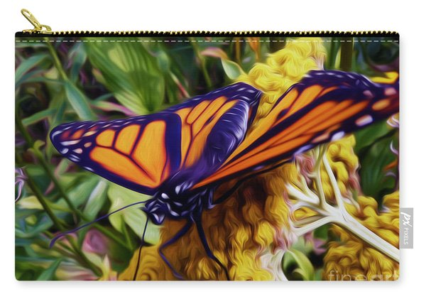 Monarch On Yarrow Carry-all Pouch
