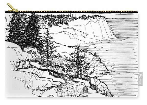 Monhegan Cliffs 1987 Carry-all Pouch