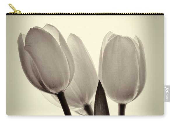 Monochrome Tulips With Vignette Carry-all Pouch