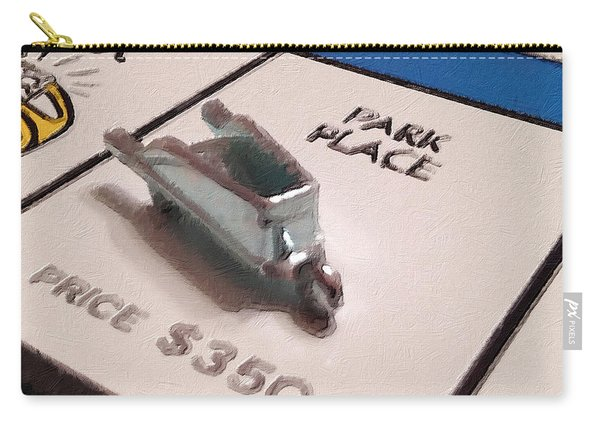 Monopoly Board Custom Painting Park Place Carry-all Pouch