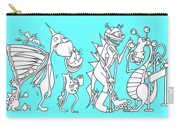 Monster Queue Blue Carry-all Pouch