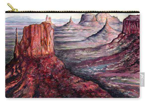 Monument Valley Arizona - Landscape Art Painting Carry-all Pouch