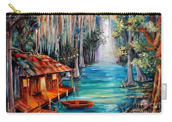 Moon On The Bayou Carry-all Pouch