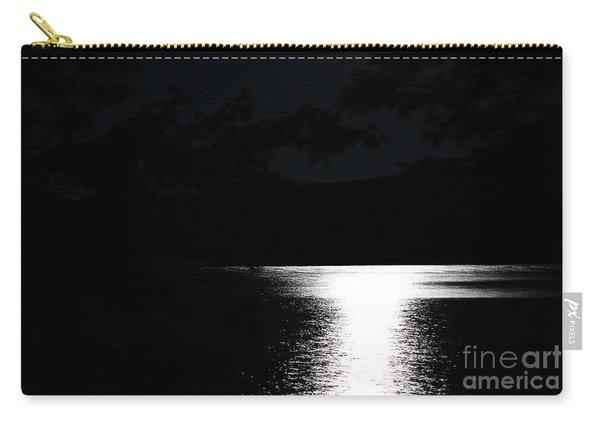 Moon On Waterton Lake Carry-all Pouch