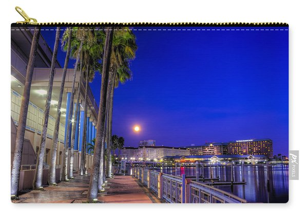 Moon Rise Over Harbor Island Carry-all Pouch