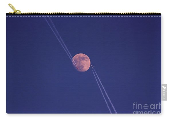 Moon With Airplanes Carry-all Pouch
