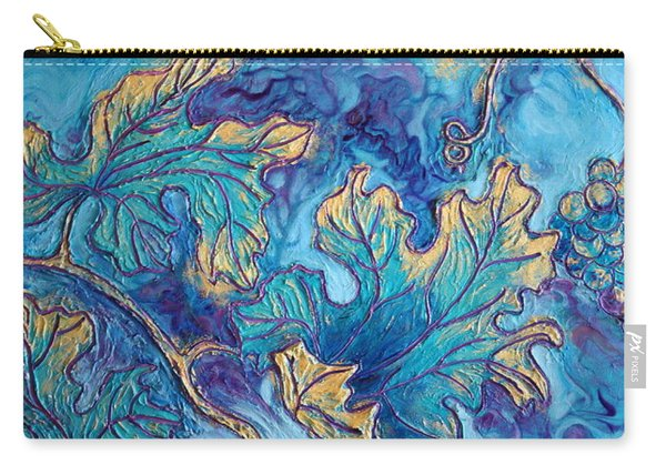 Carry-all Pouch featuring the painting Moonlight On The Vine by Sandi Whetzel