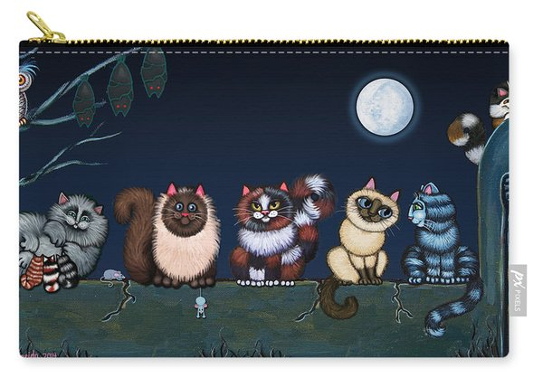 Moonlight On The Wall Carry-all Pouch