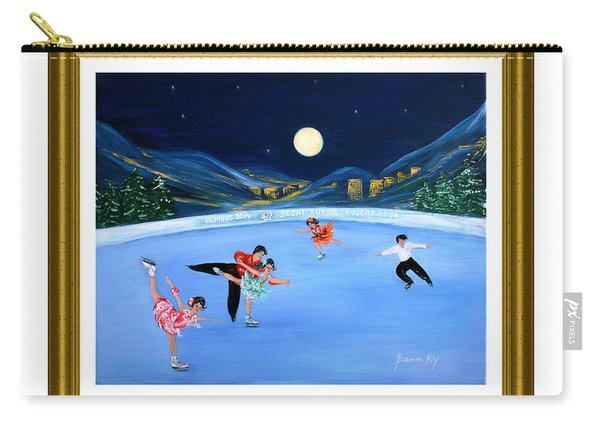 Moonlight Skating. Inspirations Collection. Card Carry-all Pouch