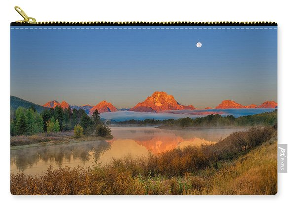 Moonset Over Oxbow Bend Carry-all Pouch