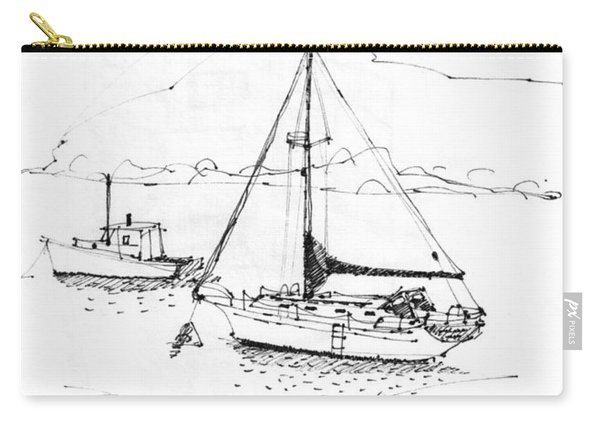 Moored Boats Monhegan Island Carry-all Pouch