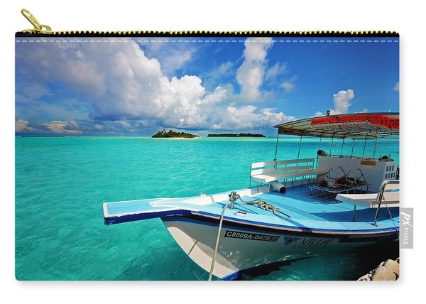 Moored Dhoni At Sun Island. Maldives Carry-all Pouch