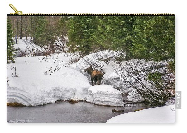 Moose In Alaska Carry-all Pouch