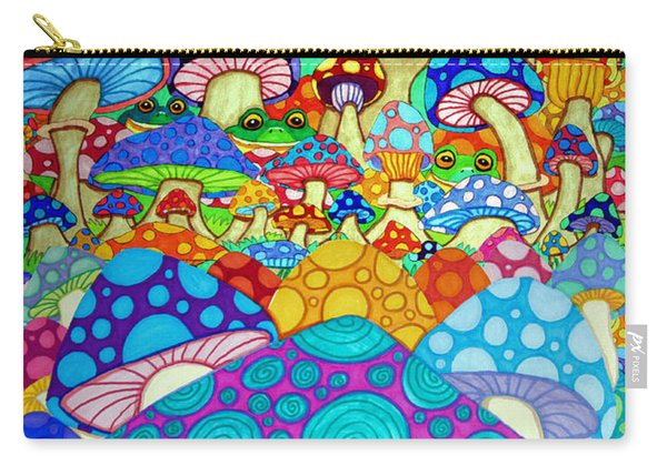 More Frogs Toads And Magic Mushrooms Carry-all Pouch