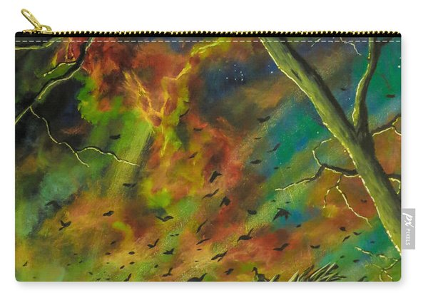Carry-all Pouch featuring the painting Morning Flight by Joel Tesch