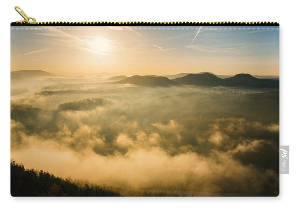 Morning Fog In The Saxon Switzerland Carry-all Pouch
