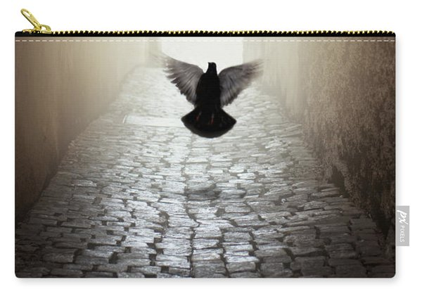 Carry-all Pouch featuring the photograph Morning Impression With A Dove by Jaroslaw Blaminsky