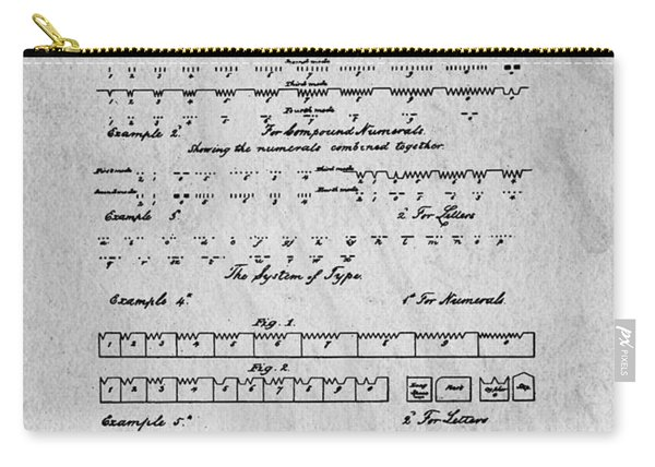 Morse Code Original Patent Carry-all Pouch