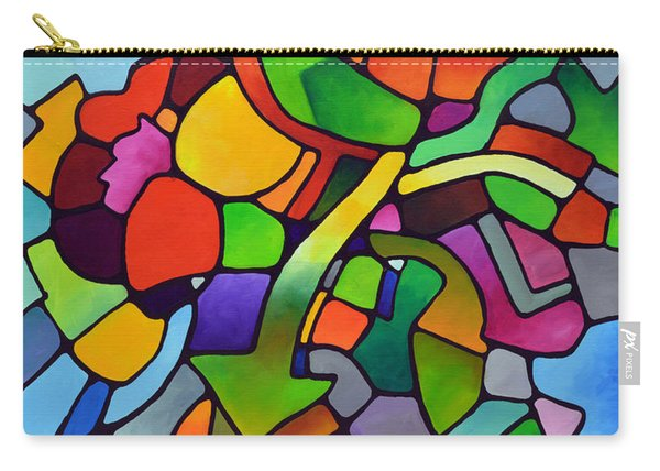 Mosaic Bouquet Carry-all Pouch