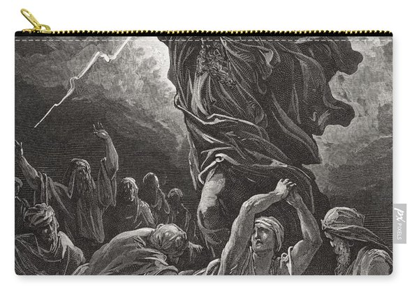 Moses Breaking The Tablets Of The Law Carry-all Pouch