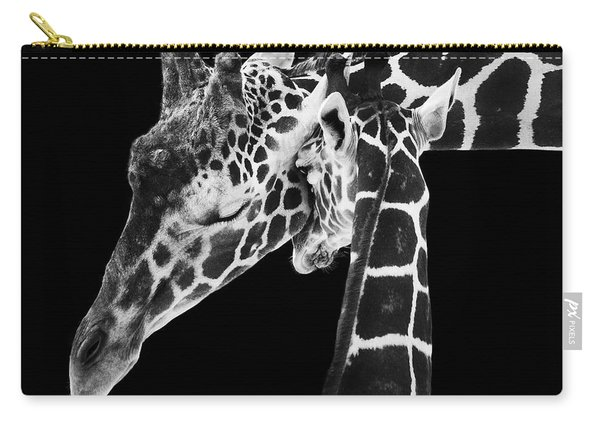 Mother And Baby Giraffe Carry-all Pouch