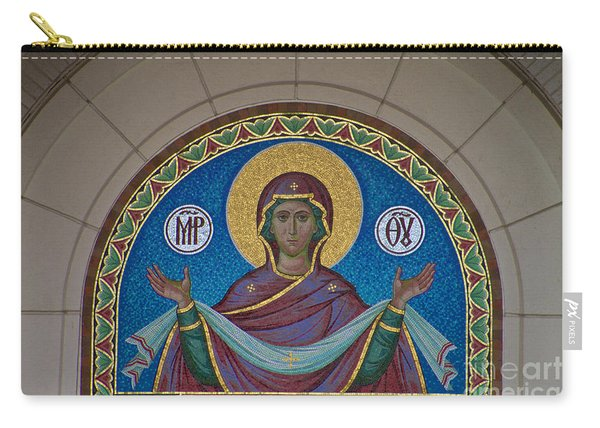 Mother Of God Mosaic Carry-all Pouch