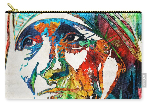 Mother Teresa Tribute By Sharon Cummings Carry-all Pouch