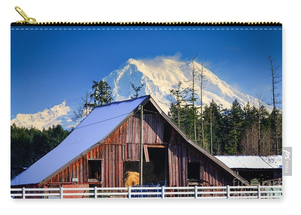 Mount Rainier And Barn Carry-all Pouch