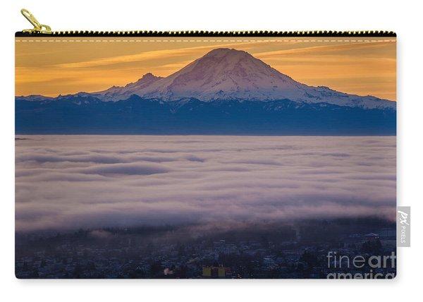 Mount Rainier Sunrise Mood Carry-all Pouch