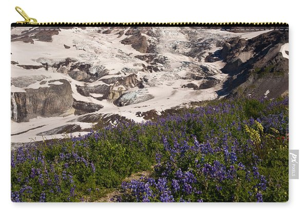 Mount Rainier Wildflower Meadows Carry-all Pouch