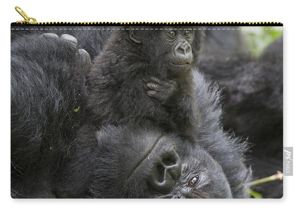 Mountain Gorilla Baby Playing Carry-all Pouch
