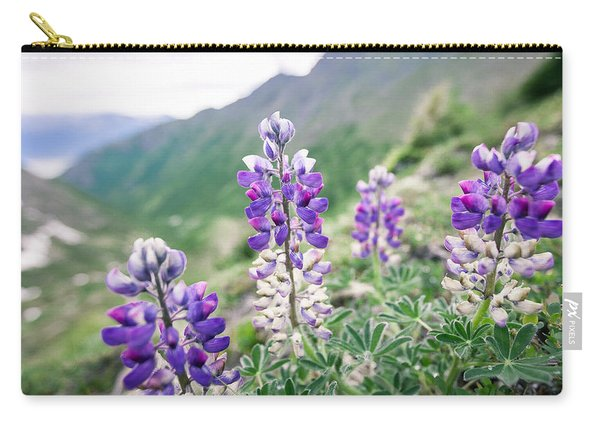 Carry-all Pouch featuring the photograph Mountain Lupine by Tim Newton