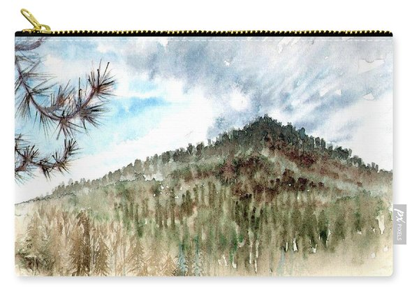 Carry-all Pouch featuring the painting Mountain Rain by Ashley Kujan