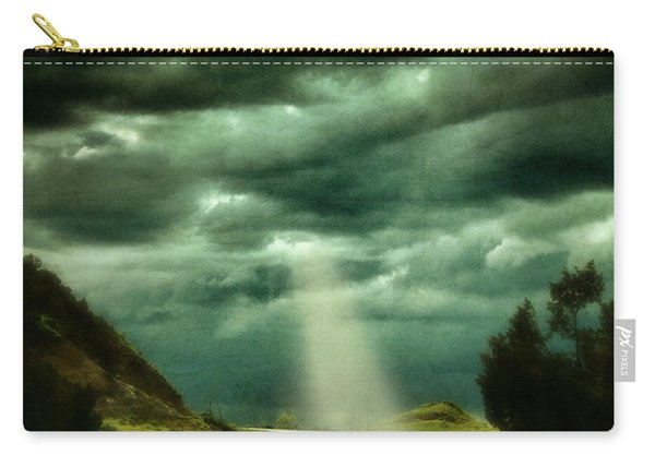 Mountain Road With Stormy Sky Carry-all Pouch