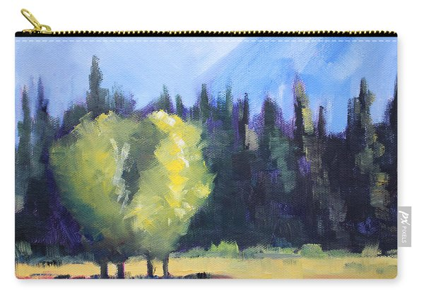 Mountain Shadows Landscape Painting Carry-all Pouch