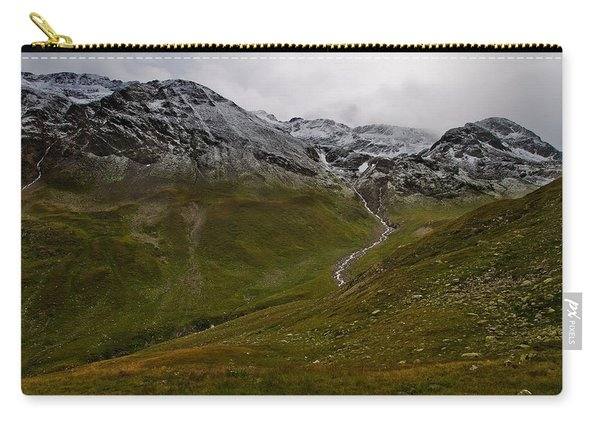 Mountainscape With Snow Carry-all Pouch
