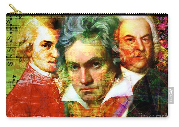 Mozart Beethoven Bach 20140128 Carry-all Pouch