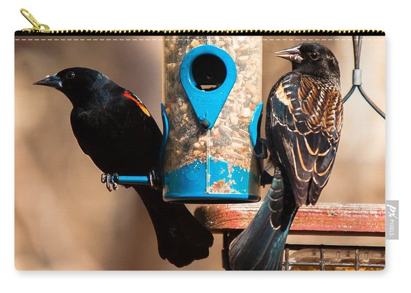 Mr. And Mrs. Red Winged Blackbird Carry-all Pouch
