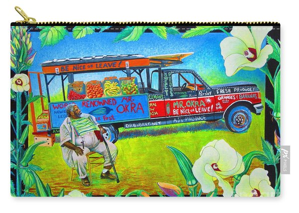 Mr Okra Carry-all Pouch