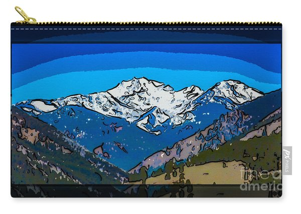 Mt Gardner In The Spring Abstract Painting  Carry-all Pouch