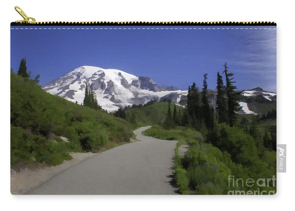 Mt Rainier Painted Carry-all Pouch