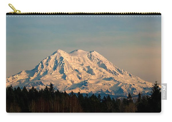 Mt Rainier Winter Panorama Carry-all Pouch