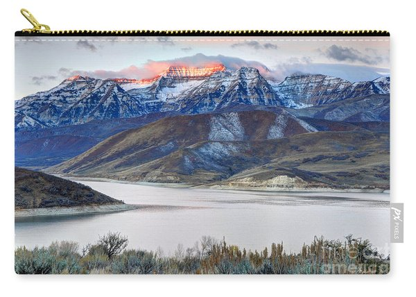 Mt. Timpanogos Winter Sunrise Carry-all Pouch