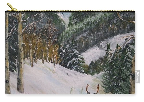 Mule Deer In Winter Carry-all Pouch