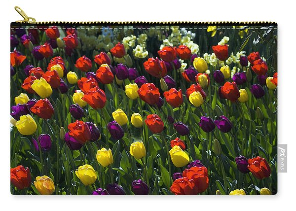 Colorful Tulip Field Carry-all Pouch