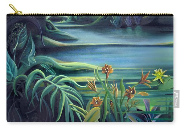 Mural Bird Of Summers To Come Carry-all Pouch