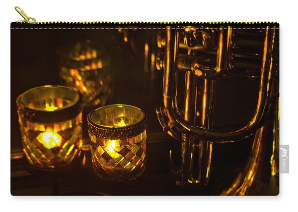 Trumpet And Candlelight Carry-all Pouch