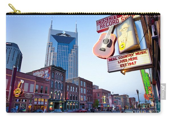 Carry-all Pouch featuring the photograph Music City Usa by Brian Jannsen