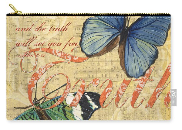 Musical Butterflies 3 Carry-all Pouch
