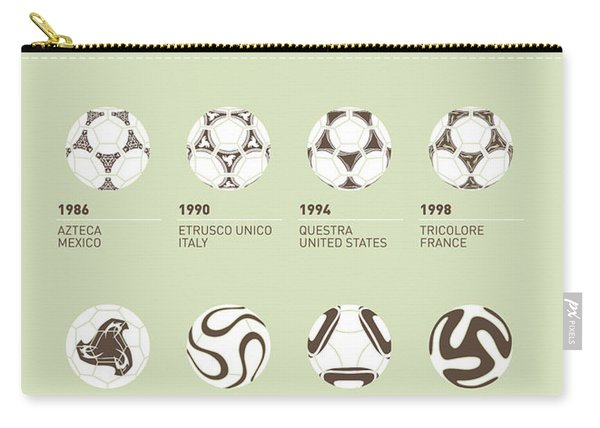 My Evolution Soccer Ball Minimal Poster Carry-all Pouch